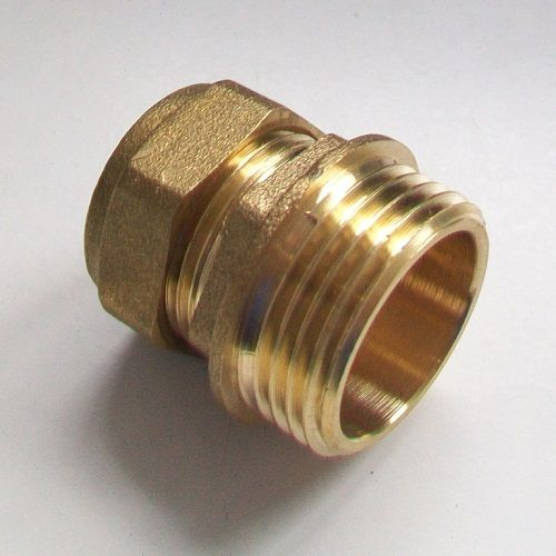 22mm - 1 Inch Brass Compression Male Iron to Copper - 24422201