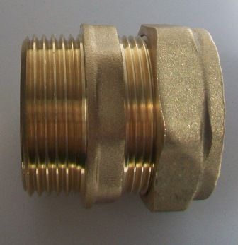 28mm - 1 inch Brass Compression Male Iron to Copper - 24422800
