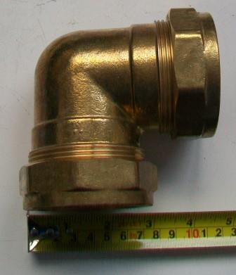 54mm Brass Compression Elbow Bend - 24445400