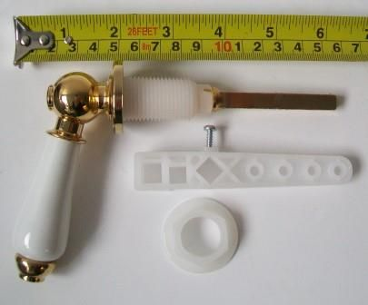toilet cistern lever gold. Antique White and Gold Effect Cistern Lever Handle  08000439 Plumbers Mate Ltd