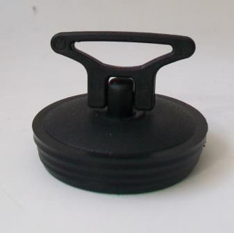 Black PVC 2 inch Kitchen Sink Plug with Handle - 74000251