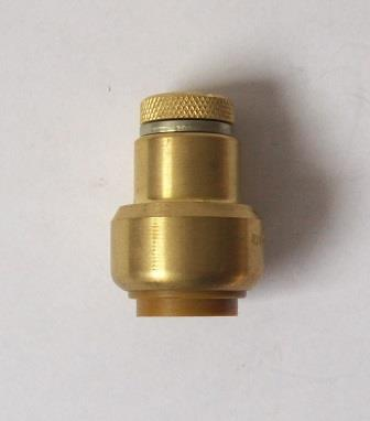 Brass Push Fit 15mm Air Pressure Release Valve - 276115RV