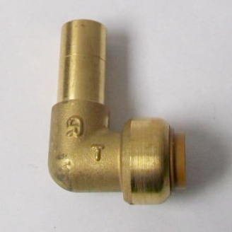 Brass Push Fit Elbow 15mm with Plain End for Fittings - 2712150S