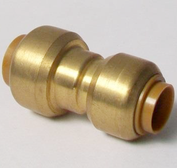 Brass Push Fit Reducer 15mm to 12mm Adapter - 27011512