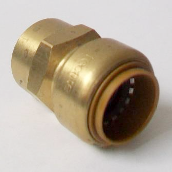 Brass Push Fit Straight 22mm to 3/4 inch Female Thread - 27022200