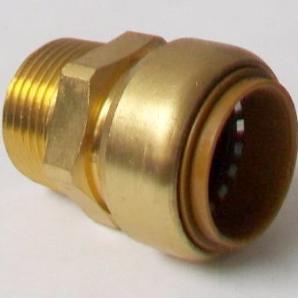 Brass Push Fit Straight 28mm to 1 inch Male Thread - 27002803