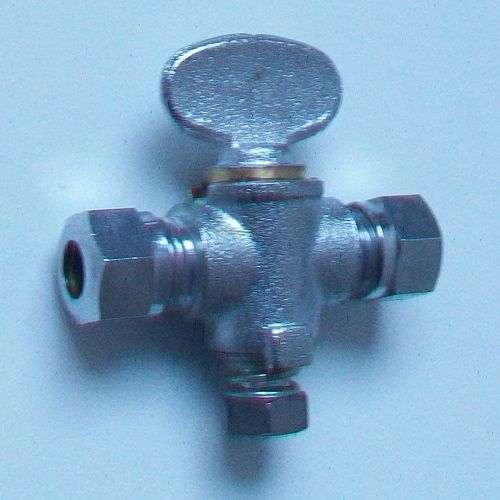Chrome Gas Isolation Valve 8mm Butterfly Handle