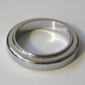 Chrome Metal Large Tap Base Ring Plinth 54mm 62003159