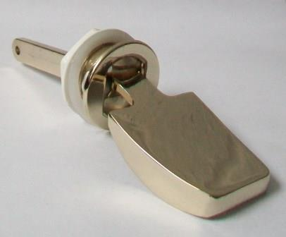 Cistern Side Flush Handle Round Hole Metal Gold Effect