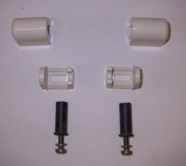 Easy Top Blind Fixing White Toilet Seat Bar Hinges Plumbers Mate Ltd