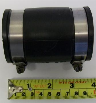Flexible Rubber Connector for 44mm - 49mm Waste Pipe