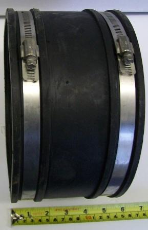Flexible Rubber Pipe Connector 150mm 165mm Plumbers