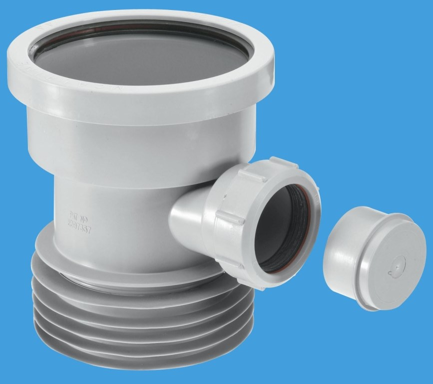 Grey plastic soil pipe to cast iron or clay with boss for 90mm soil pipe fittings