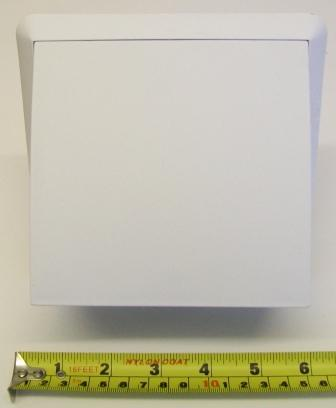 Hooded White Ventilation Cover with Draft Flap