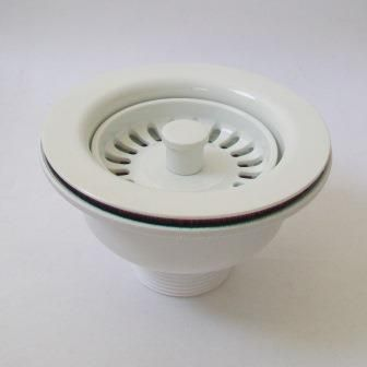 kitchen sink basket strainer waste white 113mm   kitchen sink basket strainer waste white 113mm   plumbers mate ltd  rh   plumbers mate sales co uk