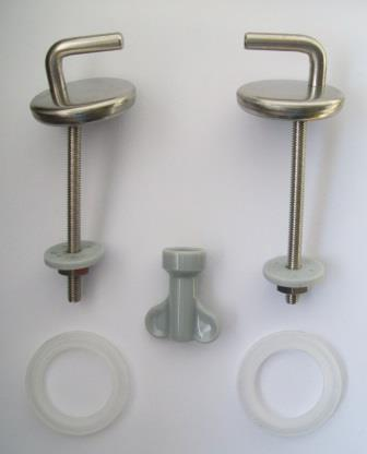L Shaped Stainless Steel Toilet Seat Hinges 03065775