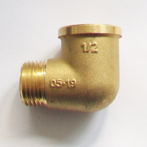 Male x Female Brass Foundry Elbow 1/2 inch BSP - 07002212