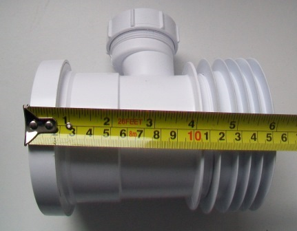 Mcalpine 110mm boss connector for pan connectors wc bp1 for 90mm soil pipe