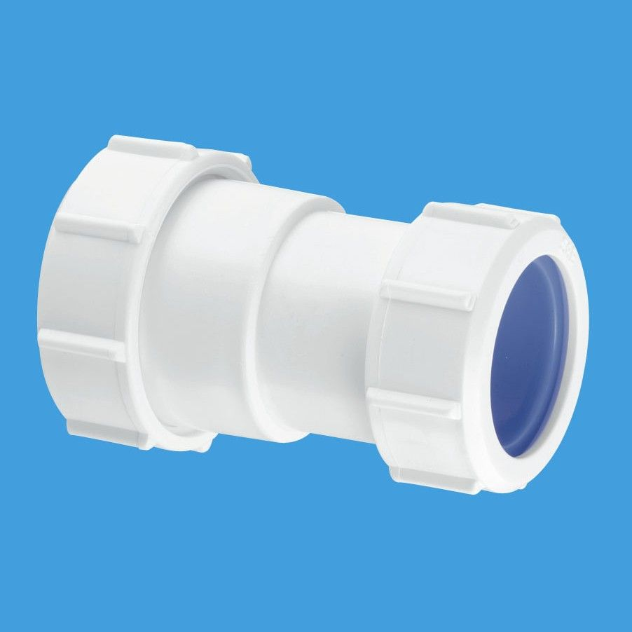 Mcalpine 2 inch to 50mm european pipe connector z28l iso for Outside waste pipe