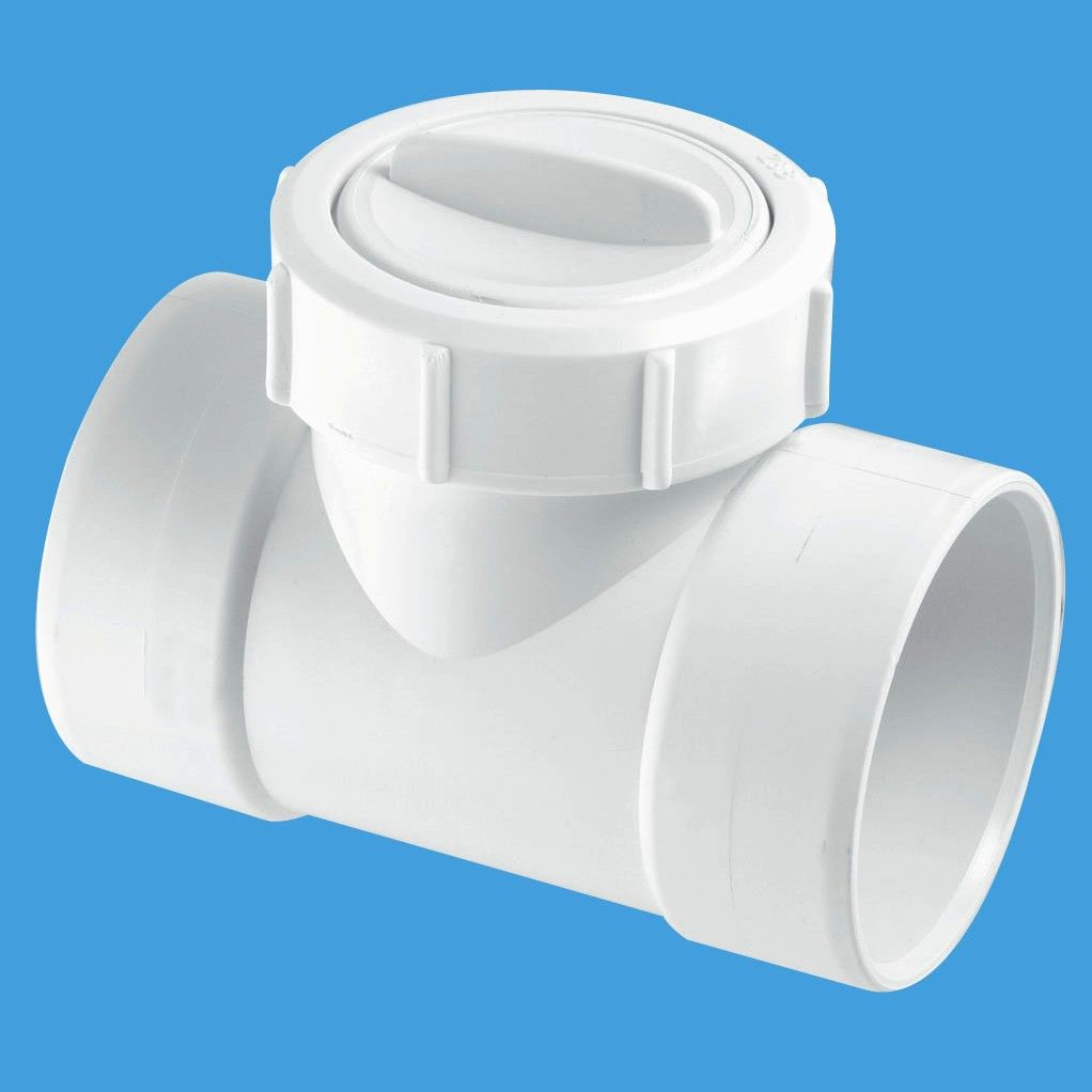 Mcalpine 2 inch waste pipe solvent non return valve z28m for Outside waste pipe