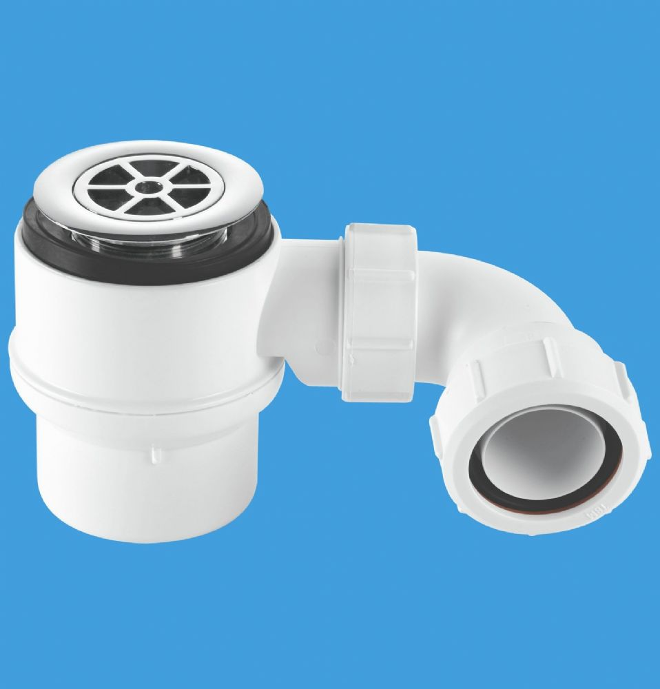 Mcalpine 50mm seal shower trap 70mm flange stw4 r for Wet room seal