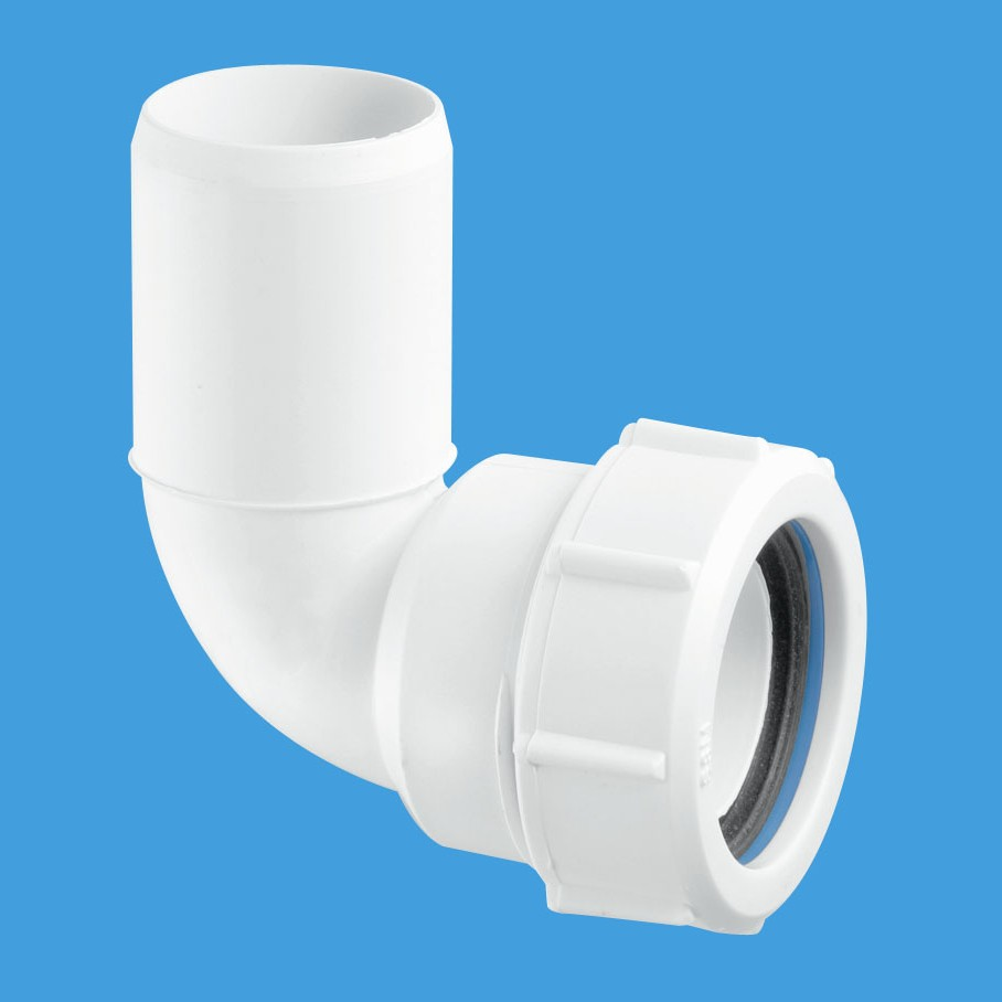 Mcalpine basin waste pipe bend with plain end ms4l for Outside waste pipe