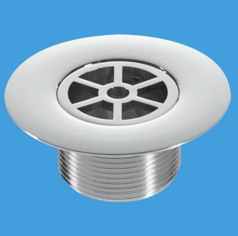 Mcalpine Chrome Plastic 85mm Shower Flange Long Tail