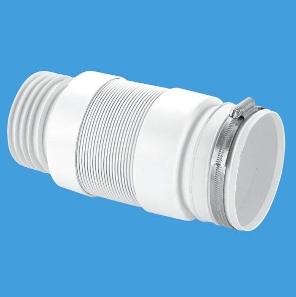 Mcalpine flexible back to wall pan connector 3 1 2 for 90mm soil pipe