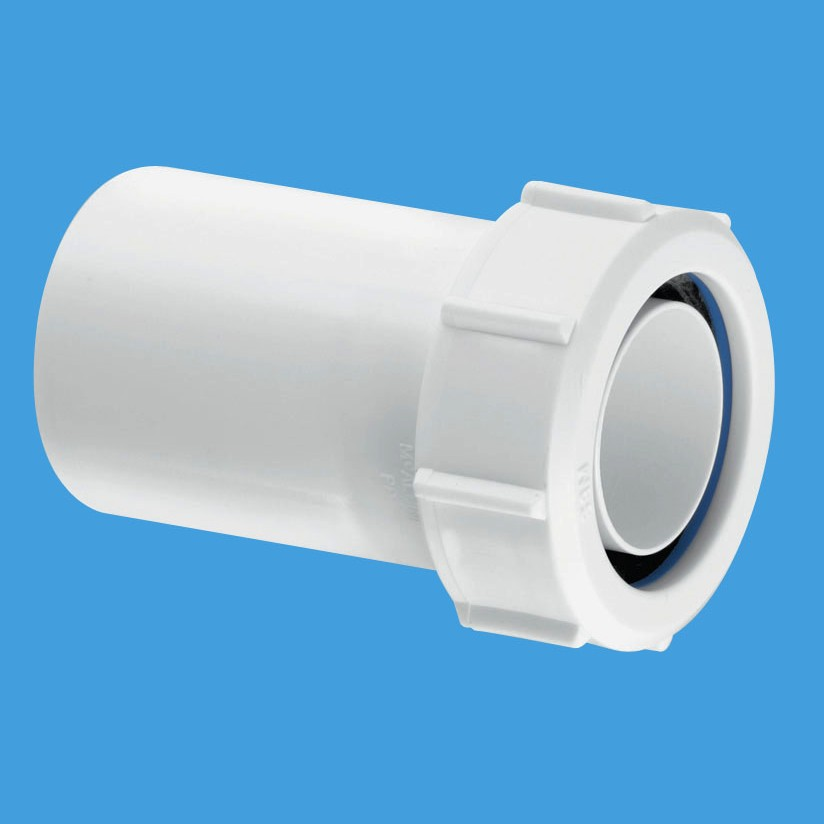 Mcalpine plain end 40mm to 32mm trap pipe reducer t12m for Outside waste pipe