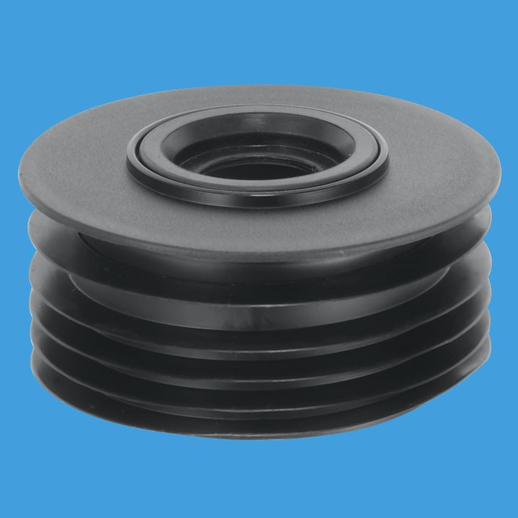 Mcalpine soil pipe 110mm internal adaptor 1 1 4 and 1 1 2 for Outside waste pipe