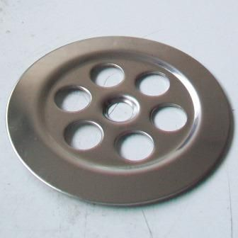McAlpine Stainless Steel 70mm Centre Pin Flush Grated Flange - 39000092