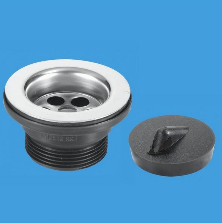 Kitchen Sink Waste Mcalpine stainless steel kitchen sink waste 70mm flange 74001024 mcalpine stainless steel kitchen sink waste 70mm flange 74001024 plumbers mate ltd workwithnaturefo