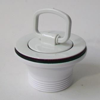 mcalpine white kitchen sink waste and plug 74000026 - Kitchen Sink Wastes