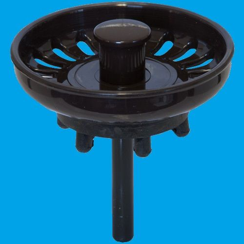 Mocca Dark Brown Basket Strainer Waste Plug 39000025
