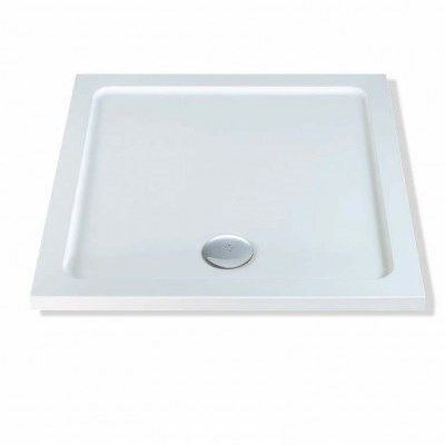 MX Low Line White Square Shower Tray 760 x 760 - 50001248