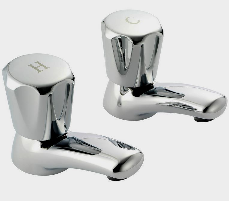 Pegler Performa Polo Round Top Chrome Basin Taps - Plumbers Mate Ltd