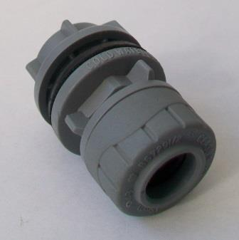 Polyplumb Push Fit 15mm x 1/2 Straight Tank Connector - 29P05015