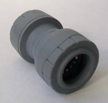 Polyplumb Push Fit 22mm Pipe Straight Coupling - 29P01022