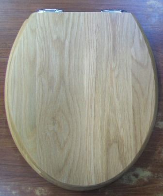 Sanitan Light Natural Oak Real Wood Soft Close Toilet Seat - 04000306