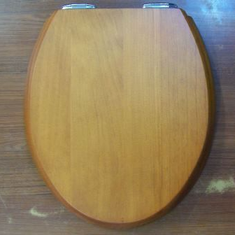Sanitan Pine Wood Effect Soft Close Toilet Seat - 02015820