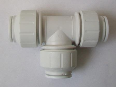 Push To Connect Fittings >> Speedfit Push Fit 15mm Pipe Equal Tee Piece - 21000116 - Plumbers Mate Ltd