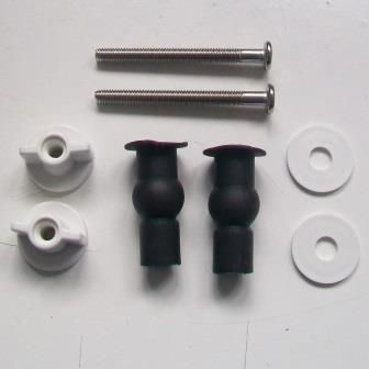 Top Fix Toilet Seat Hinge Bolt and Rubber Lug Set - 03065752