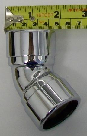 Chrome Plated 135 176 35mm Compression Bend Plumbers Mate Ltd