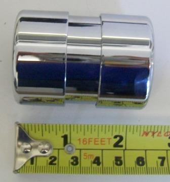 Waste Euro Pipe Straight Coupler Chrome Plated 32mm - 68028063