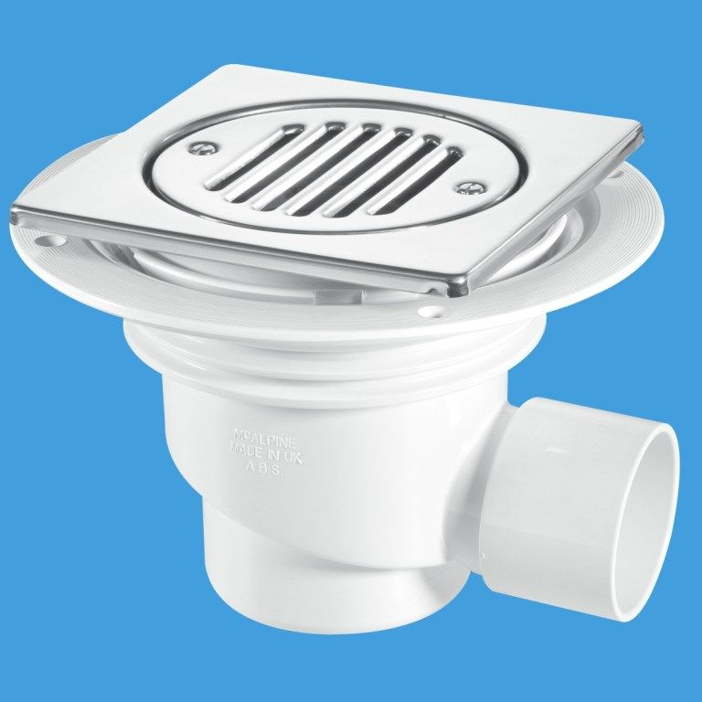 Mcalpine wet room 75mm seal gully trap for tiled or stone for Wet room seal