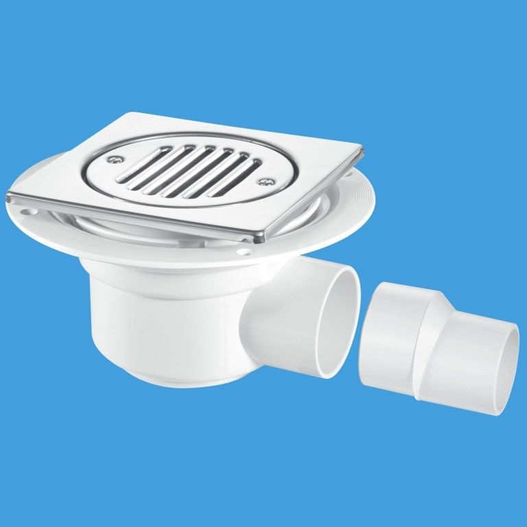 Mcalpine gully trap for use with tiled or stone floors for Wet room seal