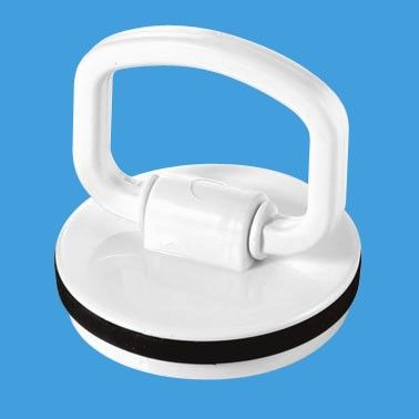 White D Ring Pull Handle Plug for Baths and Kitchen Sinks - 74000950
