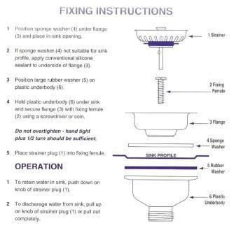 McAlpine Kitchen Sink Stainless Steel Basket Strainer Waste ...