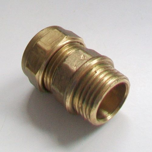 15mm - 1/2 Brass Compression Male Iron to Copper - 24421500