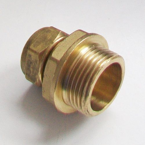15mm - 3/4 Brass Compression Male Iron to Copper - 24421502
